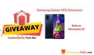 Samsung Galaxy M51 Giveaway