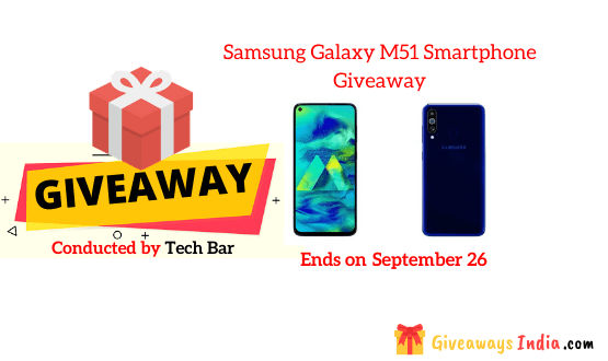 Samsung Galaxy M51 Smartphone Giveaway