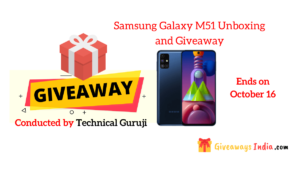 Samsung Galaxy M51 Unboxing and Giveaway