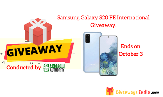 Samsung Galaxy S20 FE International Giveaway