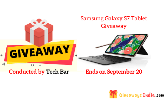 Samsung Galaxy S7 Tablet Giveaway