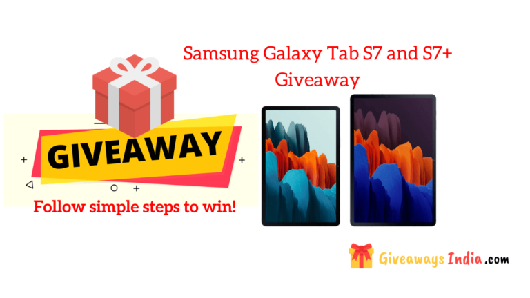 Samsung Galaxy Tab S7 and S7+ Giveaway