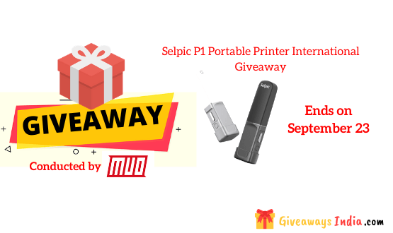 Selpic P1 Portable Printer International Giveaway