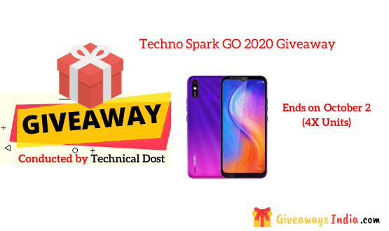 Techno Spark GO 2020 Giveaway