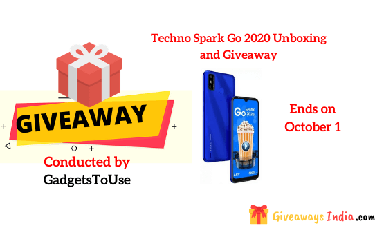 Techno Spark Go 2020 Unboxing and Giveaway