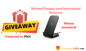 Wireless Charging stand International Giveaway