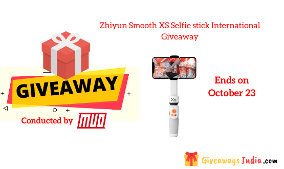 Zhiyun Smooth XS Selfie stick International Giveaway