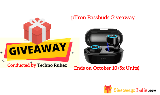 pTron Bassbuds Giveaway