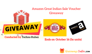 Amazon Great Indian Sale Voucher Giveaway