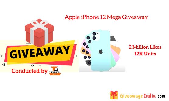 Apple iPhone 12 Mega Giveaway