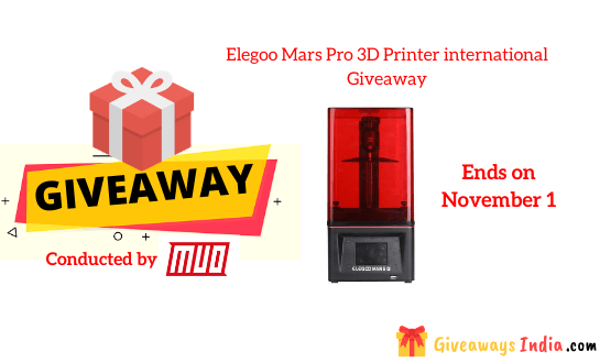 Elegoo Mars Pro 3D Printer international Giveaway