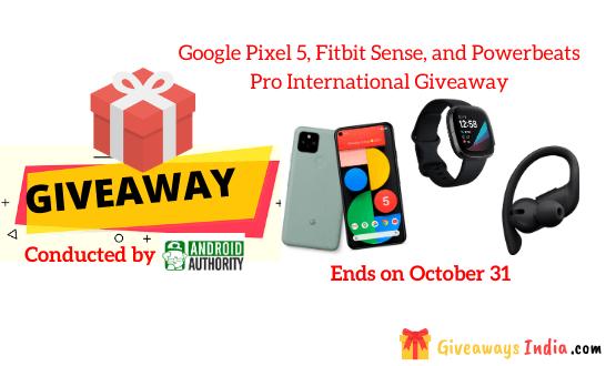 Google Pixel 5, Fitbit Sense, and Powerbeats Pro International Giveaway
