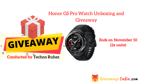 Honor GS Pro Watch Unboxing and Giveaway