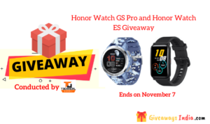 Honor Watch GS Pro and Honor Watch ES Giveaway