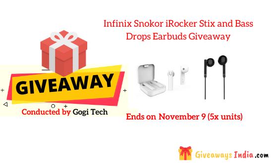 Infinix Snokor iRocker Stix and Bass Drops Earbuds Giveaway