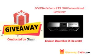 NVIDIA GeForce RTX 3070 International Giveaway