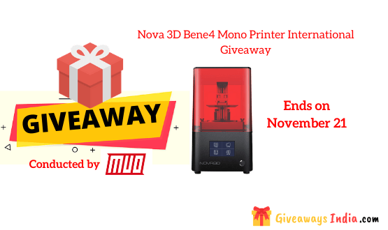 Nova 3D Bene4 Mono Printer International Giveaway