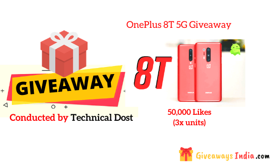 OnePlus 8T 5G Giveaway