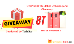 OnePlus 8T 5G Mobile Unboxing and Giveaway