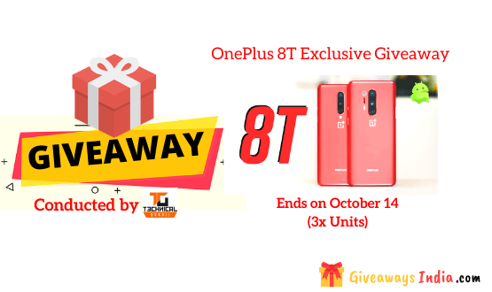 OnePlus 8T Exclusive Giveaway