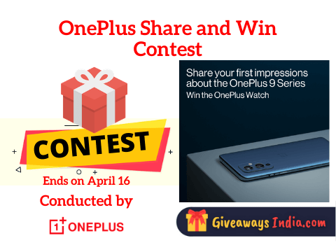 OnePlus Share and Win Contest