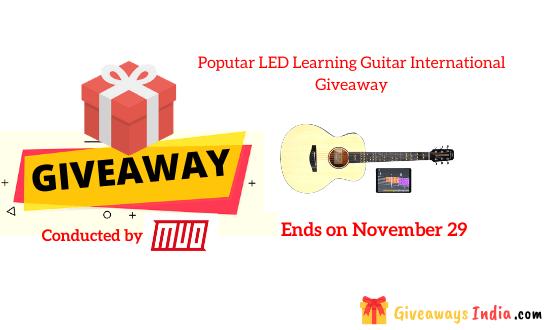Poputar LED Learning Guitar International Giveaway