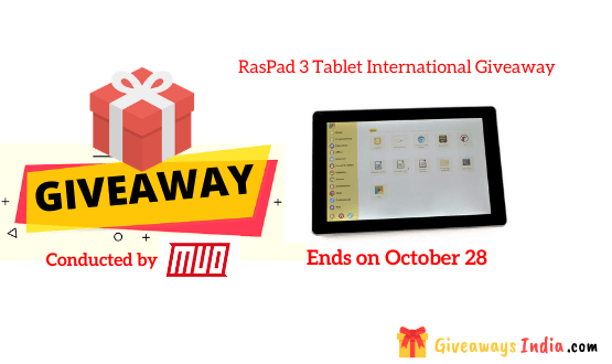 RasPad 3 Tablet International Giveaway