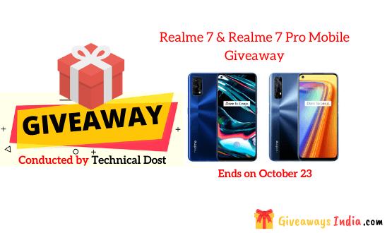 Realme 7 & Realme 7 Pro Mobile Giveaway