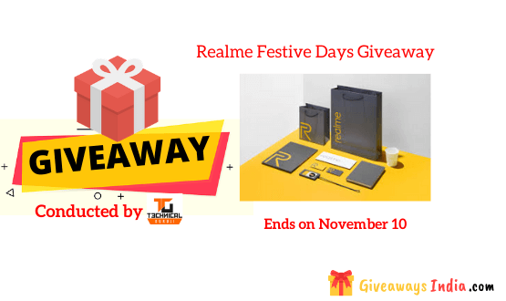 Realme Festive Days Giveaway