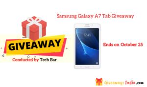 Samsung Galaxy A7 Tab Giveaway