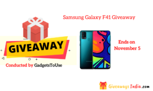 Samsung Galaxy F41 Giveaway