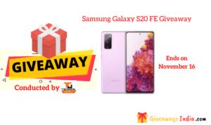Samsung Galaxy S20 FE Giveaway