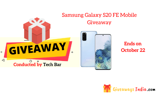 Samsung Galaxy S20 FE Mobile Giveaway