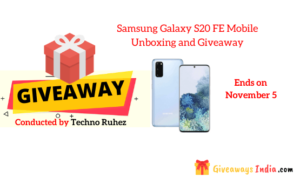 Samsung Galaxy S20 FE Mobile Unboxing and Giveaway