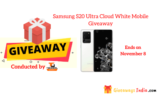 Samsung S20 Ultra Cloud White Mobile Giveaway
