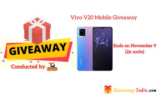 Vivo V20 Mobile Giveaway