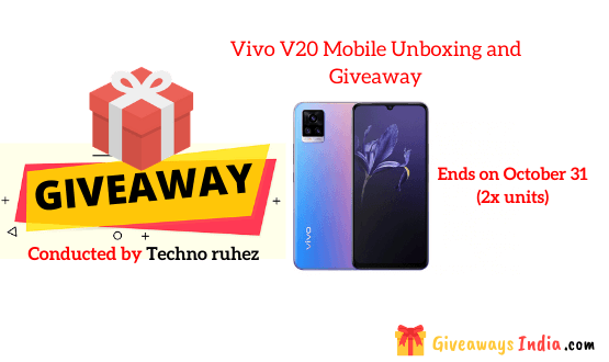 Vivo V20 Mobile Unboxing and Giveaway