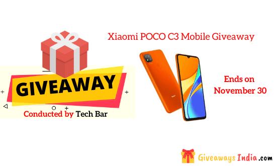 Xiaomi POCO C3 Mobile Giveaway