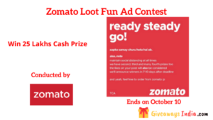 Zomato Loot Fun Ad Contest