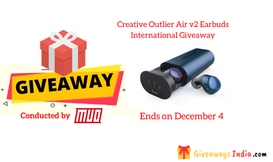 Creative Outlier Air v2 Earbuds International Giveaway