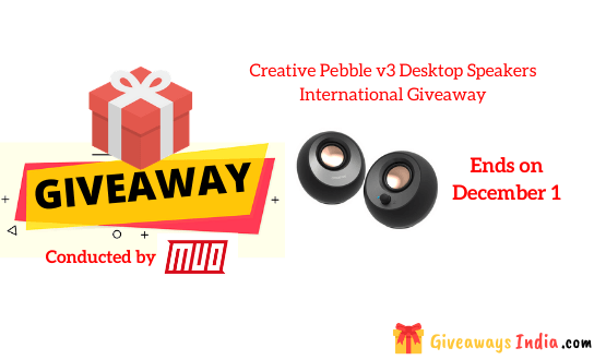 Creative Pebble v3 Desktop Speakers International Giveaway