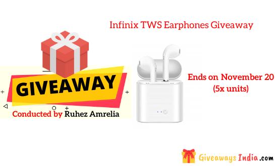 Infinix TWS Earphones Giveaway
