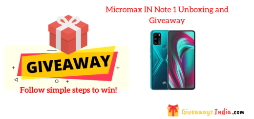 Micromax IN Note 1 Unboxing and Giveaway