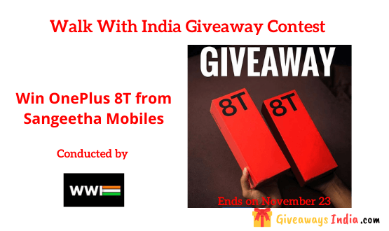 OnePlus 8T Giveaway Contest