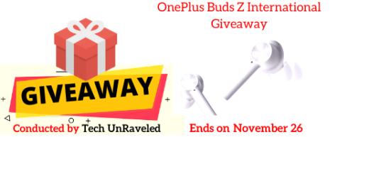 OnePlus Buds Z International Giveaway