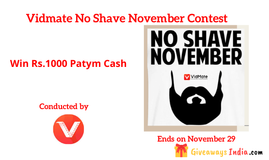 Vidmate No Shave November Contest