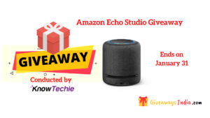 Amazon Echo Studio Giveaway