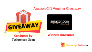 Amazon Gift Voucher Giveaway