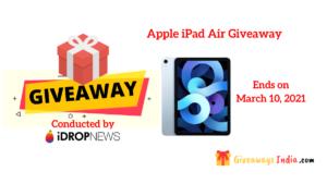 Apple iPad Air Giveaway