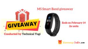 M5 Smart Band giveaway